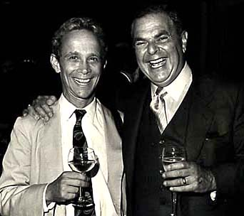 [Photo of entertainer Joel Grey and Hotelier Dick Swig]