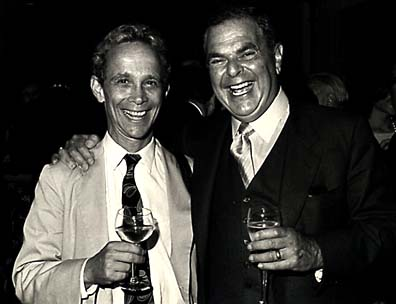 [Photo of Entertainer Joel Grey and Hotelier Richard Swig]