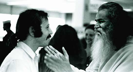 Photo- Robert Altman and Swami Satchidananda
