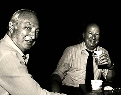 [Photo of Walter Shorenstein and Herb Caen]