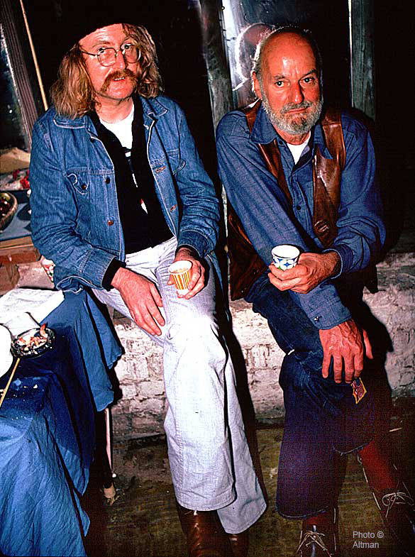 Photo- Write Richard Brautigan and Poet Lawrence Ferlingetti