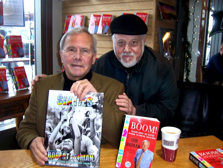 photo- Tom Brokaw and Robert Altman