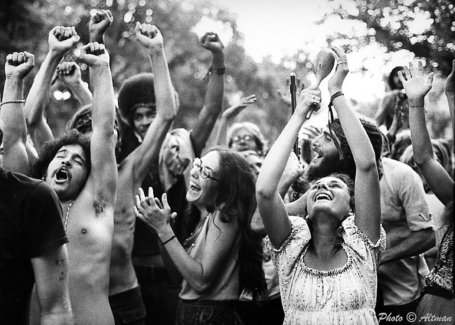 Photo of Hippies dancing. Davis Ca.