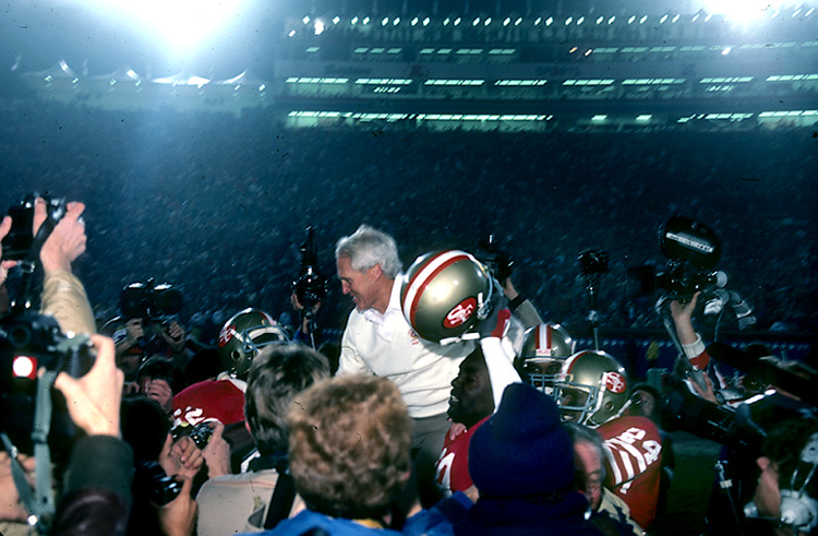 Photo: Coach Bill Walsh 1984