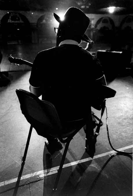 Bo Diddley  photographed from the back