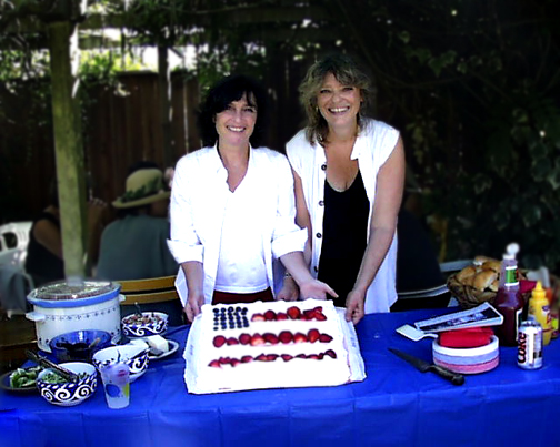 Joan Saffa and Wendy Slick - July 4, 2002