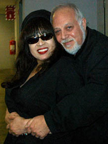 Photo- Ronnie Spector and Robert Altman