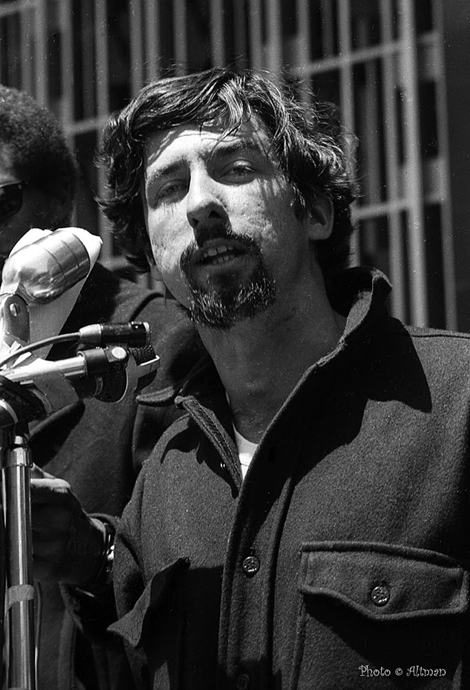 Photo- Tom Hayden 1969 - Berkeley